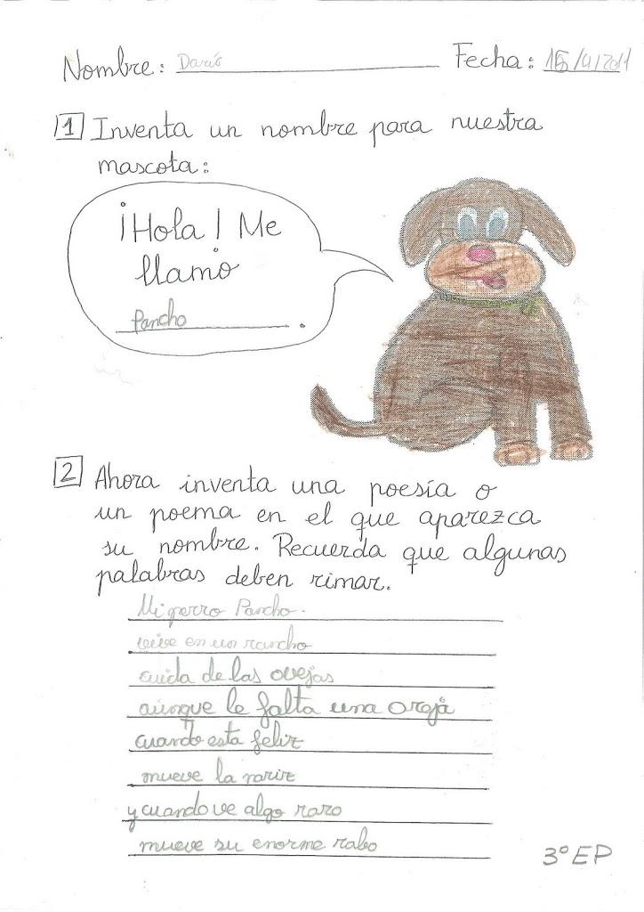 Y el nombre de nuestra mascota es... Pancho