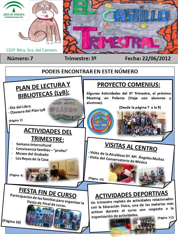 """Gaceta """"El Castillo Trimestral"""" (Nº - 7)"""