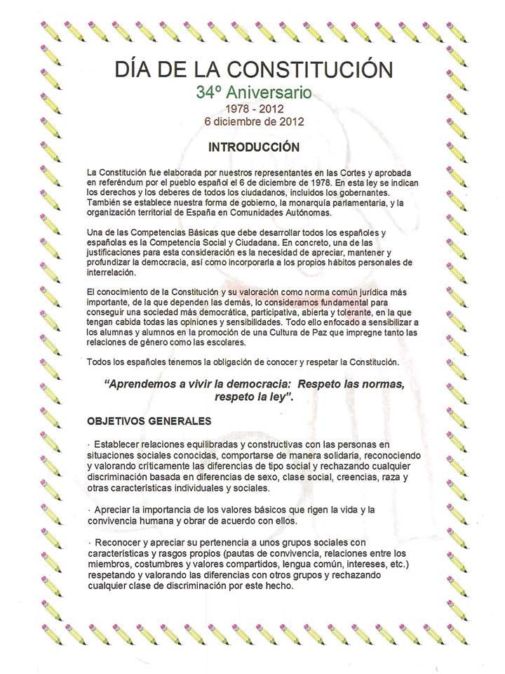 CELEBRAMOS EL DÍA DE LA CONSTITUCIÓN