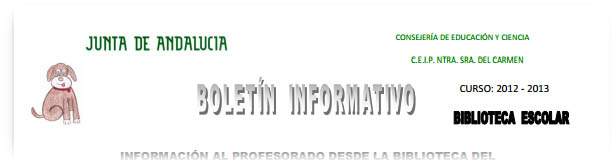 "Boletín Informativo para ""Profes"""