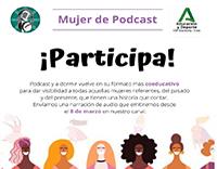 Mujer de Podcast